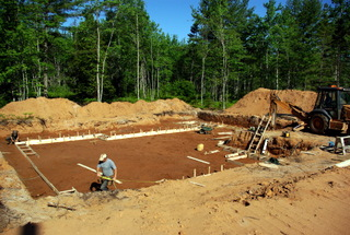 A picture of footings being built for a new home