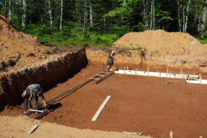 Pix.of footings being built
