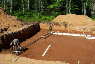 Footings for a new house