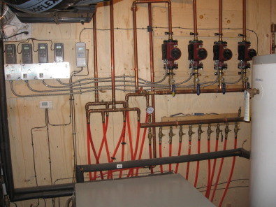 in floor heating system lay out