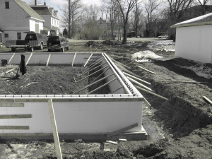 Using icf forms for slab foundation