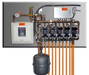 Tankless electric in floor system