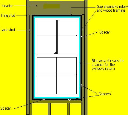 Vinyl window instulation detail