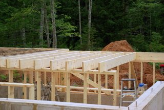 A picture of 2x10 floor joist.