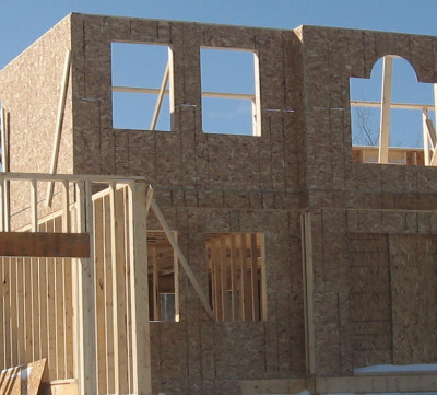 building a house and exterior sheathing