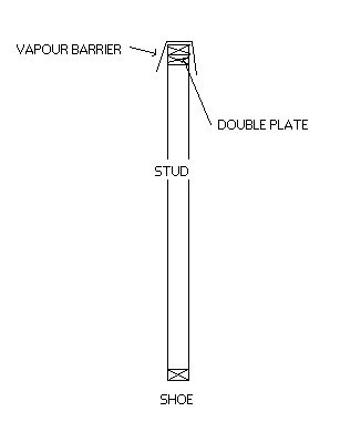 Placing vapour barrie over plate before standing wall